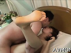 Sexy mom seduces two concupiscent dudes