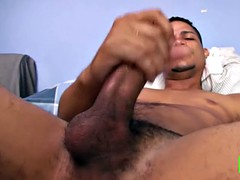 chuy sets and strokes his big cock