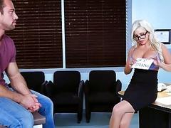 Busty Savannah fucks a big cock