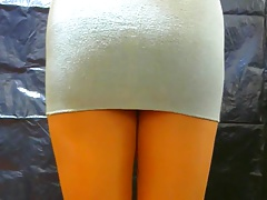 crossdresser pantyhose in grey 042