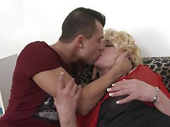 Mature sex bombs fuck young lucky sons