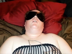 Plumper amateur wife enjoys a sex toy and a throbbing dick