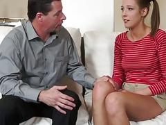 Molly serves her step dad a deep throat