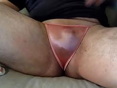 Satin panty Rub ex gf orange