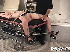Prodigious girlie is playing with herself just for fun