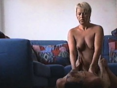 Blonde adult has sex