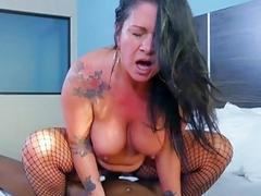 PAWG chubby MILF double teamed by two black fuck boys