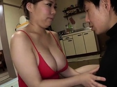 Voluptuous Asian mom gets her pussy stuffed with young meat