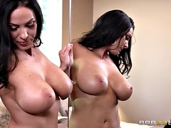 MILF in uniform with huge tits gets rammed hard