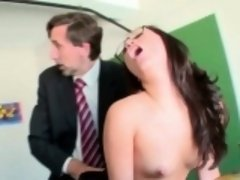 Kinky bitch gets rammed in a threesome