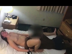 Sexy slim brunette wife enjoys interracial cuckold fucking