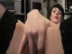 Horny Girl Masturbating In The Office