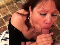 Hot latina POV blowjob his big cock