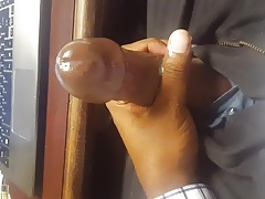 BBC blasting off at work... lots of cum