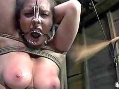 Sexy babe with big tits has hardcore bondage sex BDSM
