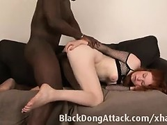 Slutty redhead loves big black coc Joye from 1fuckdatecom