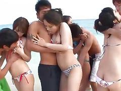 Subtitles  Outdoor orgy with beautiful japanese g