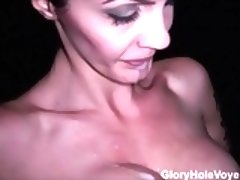 Brunette Real Gloryhole Compilation