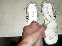 Cum in little white shoe