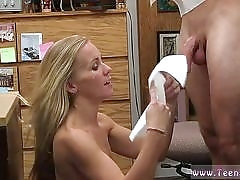 Sexy milf neighbor and garden handjob Blonde foolish attempts to sell car sells herself