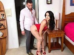 Watch slutty Mandy Muse fuck her friends dad
