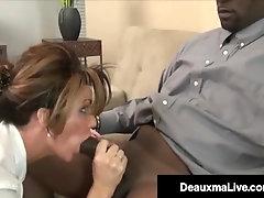 Milf Manager Deauxma Plowed By Large Ebony Trunk Worker!