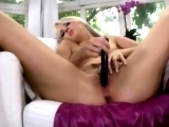 Ravishing sex kitten is displaying her opened narrow quim in