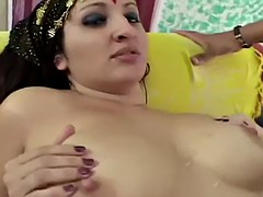 Indian BBW receives a hardcore fuck and a creampie