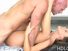 stuffing that wet pussy in a very intimate missionary session