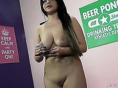 Big lips girl gets fucked and smokes a cigarette