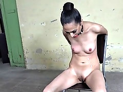 nubile sub has nipples tormented with maledom toys