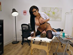 busty dentist candy sexton riding her patient's face