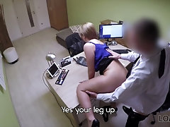 Office security cam sex tape