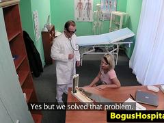 Euro doctor creampie busty pregnant patient