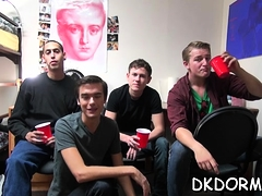 A group of lascivious homosexual guys enjoy their sex party