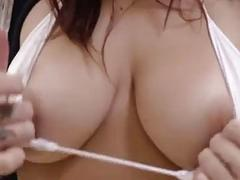Horny brunette babe Keisha Grey has her gaping asshole destroyed