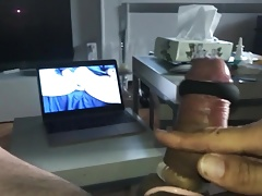 Semi Hard Cumming Cock.mp4