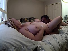 Chubby couple make their own video of sixty-nine and screwi