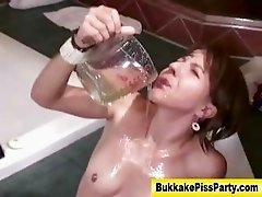 Bukkake fetish ass fuck and piss shower