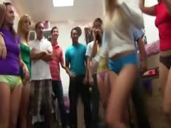 Group of neat girls fucking on college