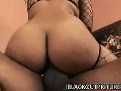 Misti Love - Big Booty Black Babe Banged By BBC