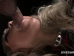 Hot Blonde Gets On Her Knees To Intense Deepthroat Cock