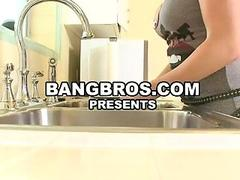 BigAss Blond Fingering Her Asshole In Kitchen